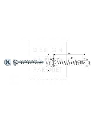 SPAX Линзовая головка шлиц Pz никелированный