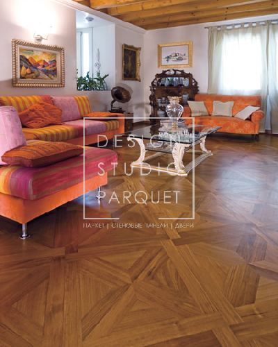 Художественный паркет Garbelotto Creator Quadrotte Плитка Africa