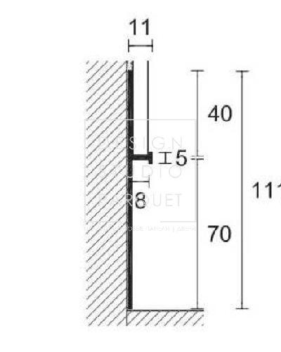 Алюминиевый плинтус Profilpas Metal Line 101
