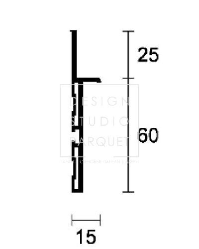 Алюминиевый плинтус Profilpas Metal Line 88
